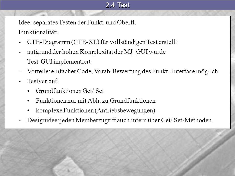 Idee: separates Testen der Funkt. und Oberfl.