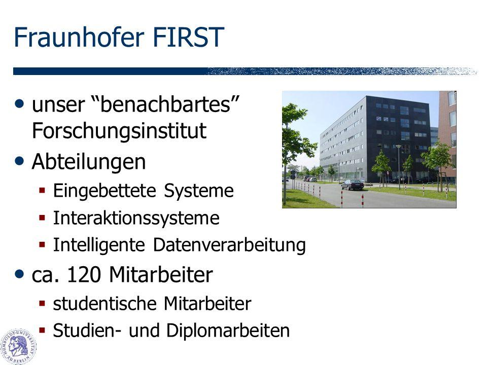 unser benachbartes Forschungsinstitut Abteilungen Eingebettete Systeme Interaktionssysteme Intelligente Datenverarbeitung ca.
