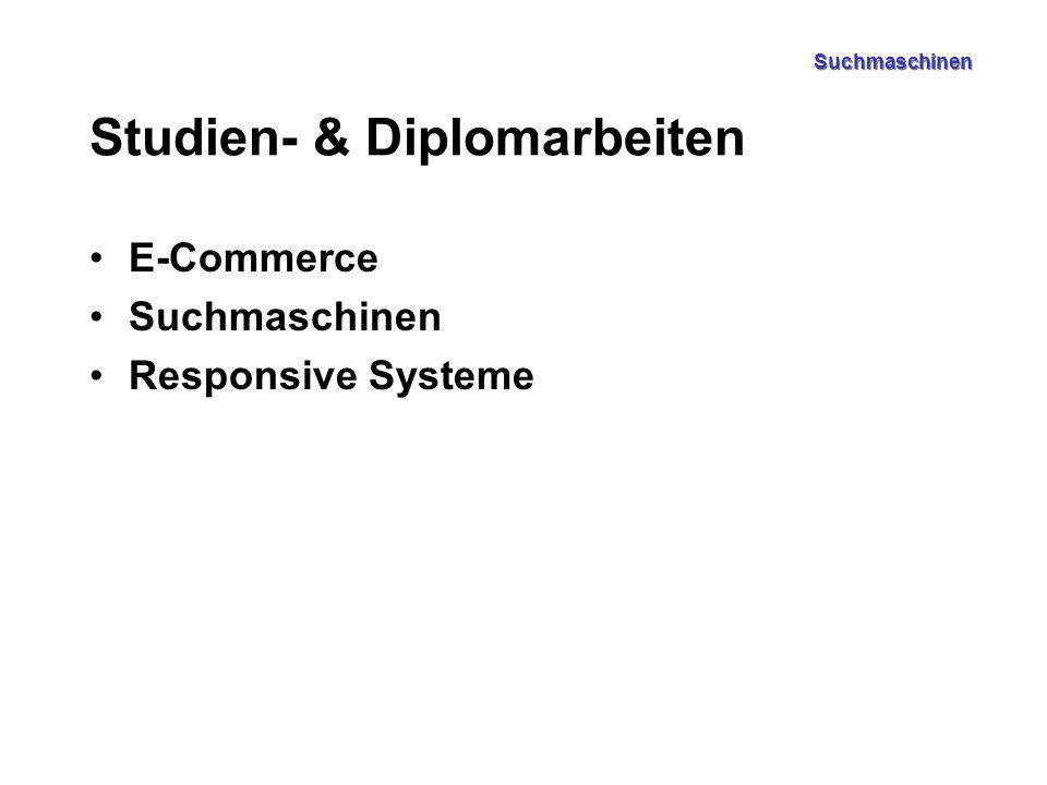 Suchmaschinen Studien- & Diplomarbeiten E-Commerce Suchmaschinen Responsive Systeme