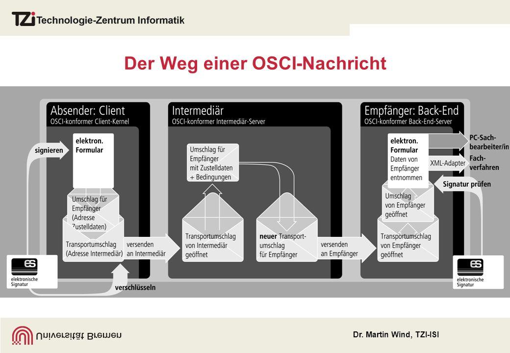 Dr. Martin Wind, TZI-ISI Der Weg einer OSCI-Nachricht