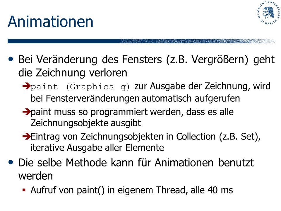 Animationen Bei Veränderung des Fensters (z.B.