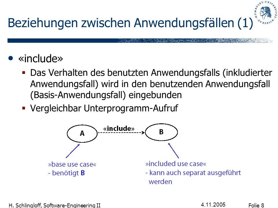 Folie 9 H. Schlingloff, Software-Engineering II 4.11.2005