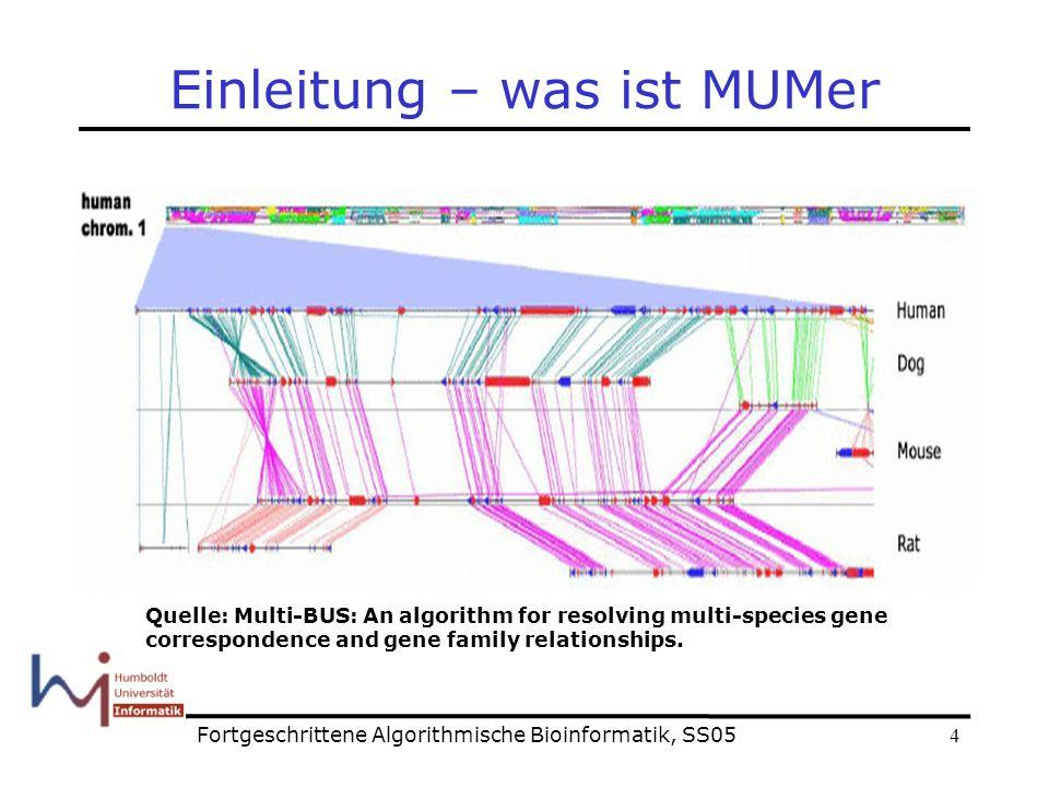 25 Ende Fragen? Fortgeschrittene Algorithmische Bioinformatik, SS05