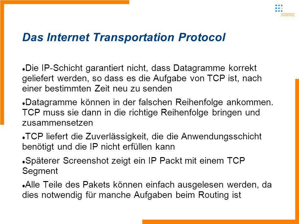 Die IP-Schicht garantiert nicht, dass Datagramme korrekt geliefert werden, so dass es die Aufgabe von TCP ist, nach einer bestimmten Zeit neu zu senden Datagramme können in der falschen Reihenfolge ankommen.
