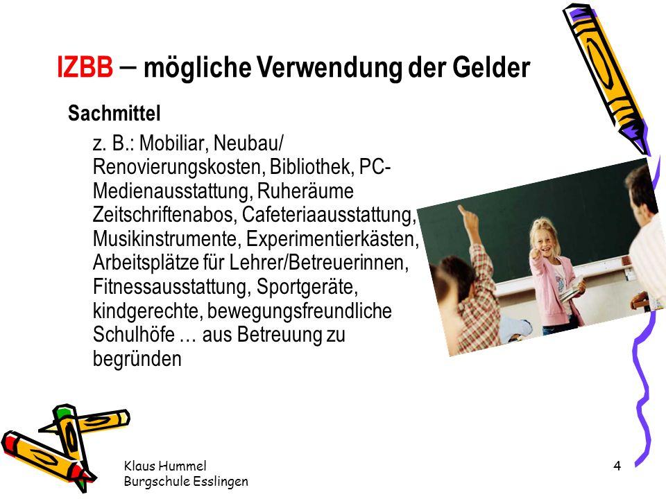Klaus Hummel Burgschule Esslingen 4 Sachmittel z.