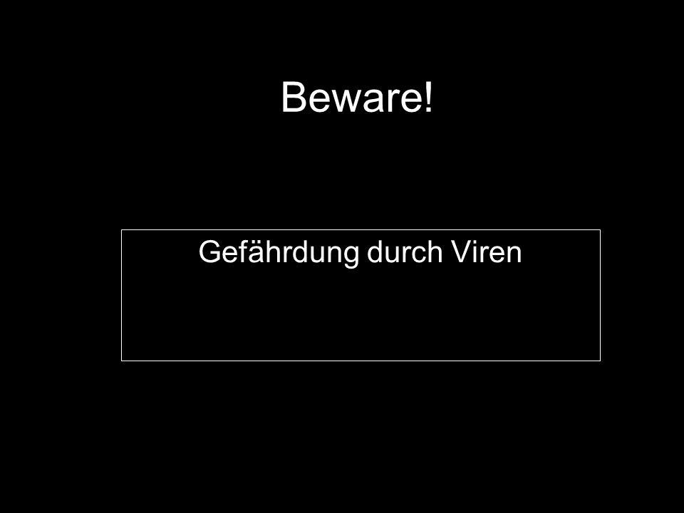 Beware! Gefährdung durch Viren