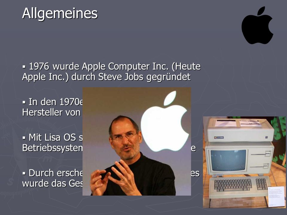 1976 wurde Apple Computer Inc.