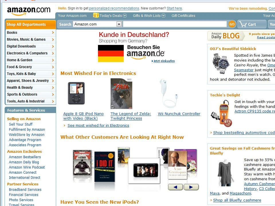 Ein Suchfeld erleichtert das surfen Ein Suchfeld erleichtert das surfen Eine Sitemap zeigt dem Nutzer wo er sich befindet Eine Sitemap zeigt dem Nutze