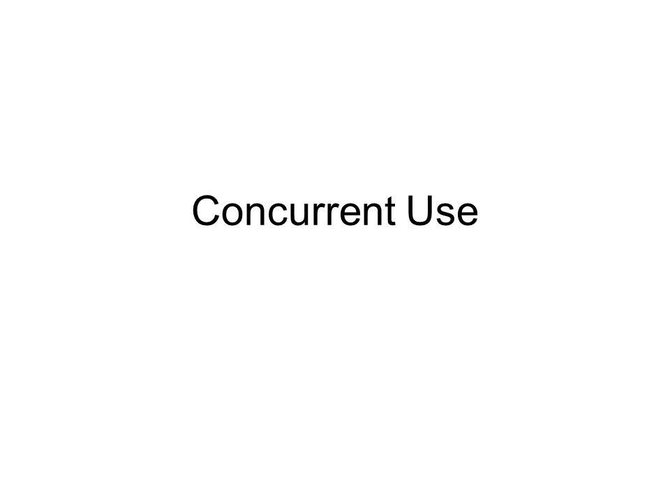 Concurrent Use