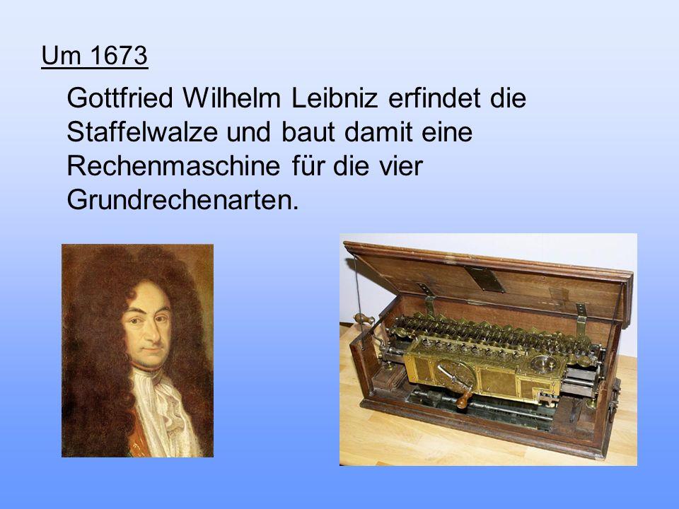 Um 1941 Konrad Zuse erbaut in Berlin die Z3, den ersten funktionsfähigen programmgesteuerten Rechenautomaten.