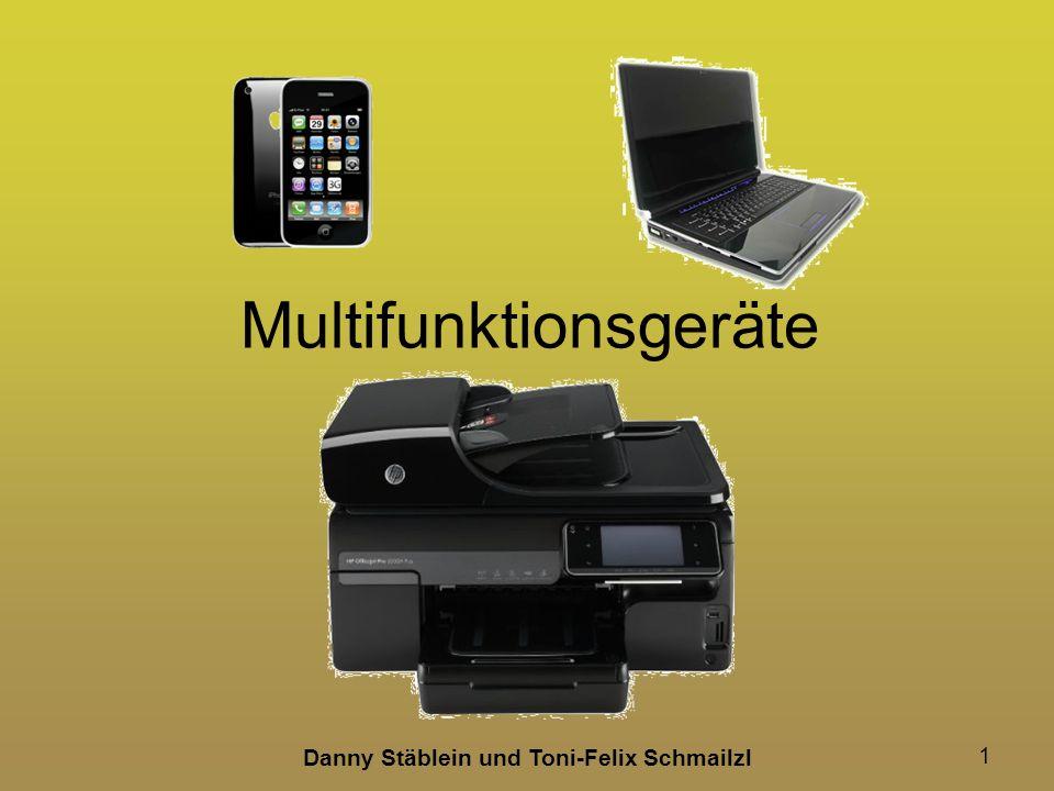 Danny Stäblein und Toni-Felix Schmailzl 22 Mehrere Papierfächer Vorteil –Bei verschiedenen Papieren, muss man Papier nicht auswechseln Nachteil –Je mehr Papierfächer man einbaut, desto größer wird der Drucker