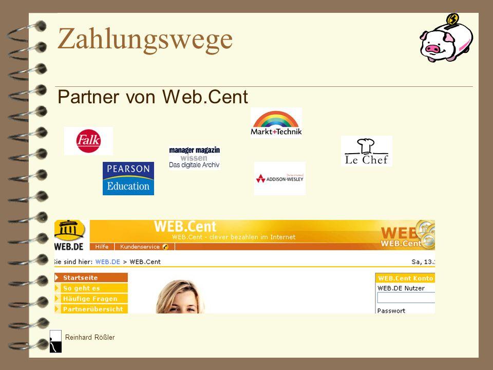 Reinhard Rößler Partner von Web.Cent Zahlungswege