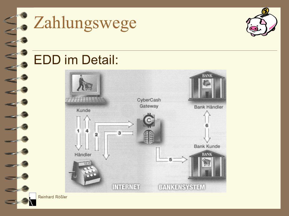 Reinhard Rößler EDD im Detail: Zahlungswege