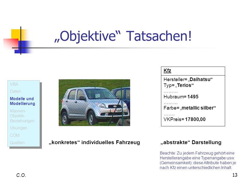 13 Objektive Tatsachen! C.O. Kfz Hersteller= Daihatsu Typ= Terios ……… Hubraum= 1495 ……… Farbe= metallic silber ……. VKPreis= 17800,00 konkretes individ