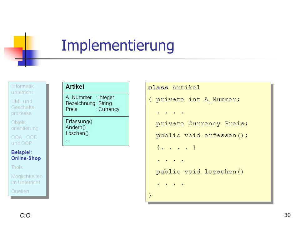 30 Implementierung C.O.