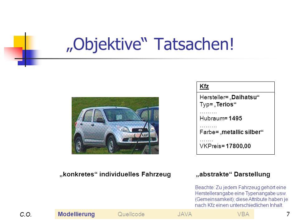 7 C.O. Objektive Tatsachen! C.O. Kfz Hersteller= Daihatsu Typ= Terios ……… Hubraum= 1495 ……… Farbe= metallic silber ……. VKPreis= 17800,00 konkretes ind