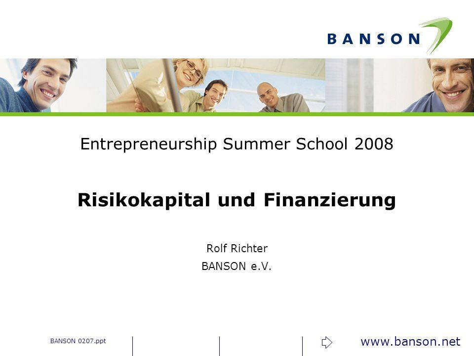 www.banson.net Business Angels – statistisch gesehen Alter ca.