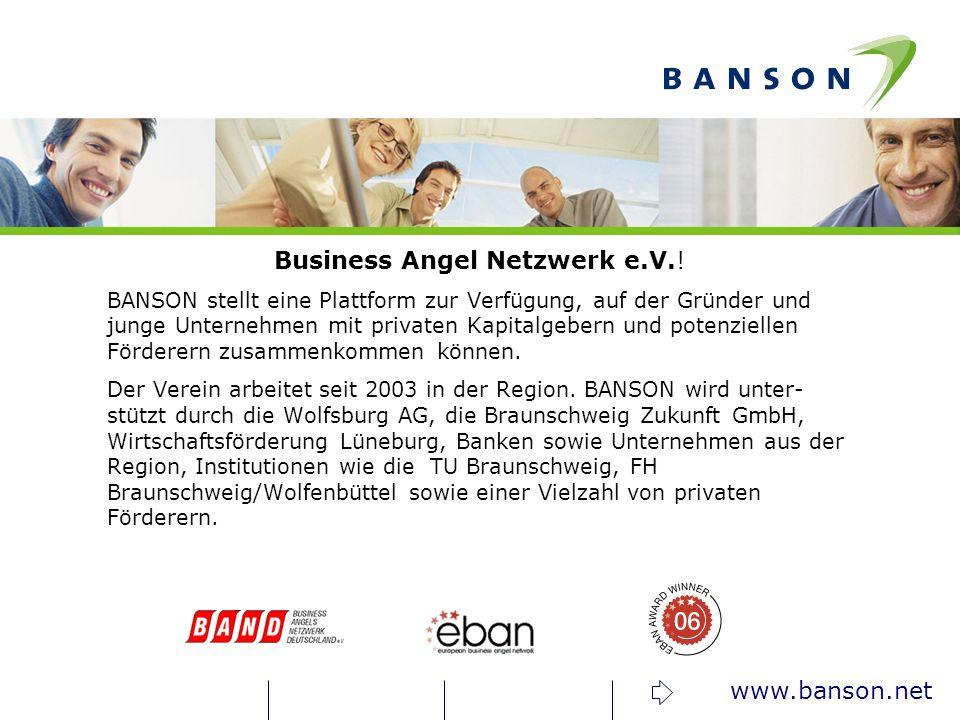 www.banson.net Business Angel Netzwerk e.V..
