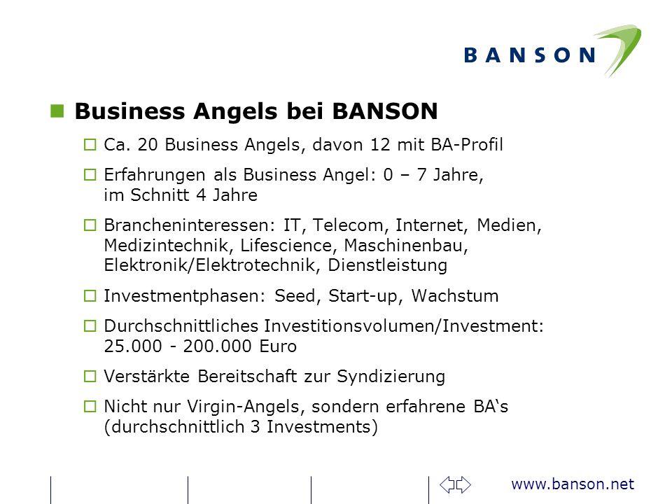 www.banson.net nBusiness Angels bei BANSON oCa.