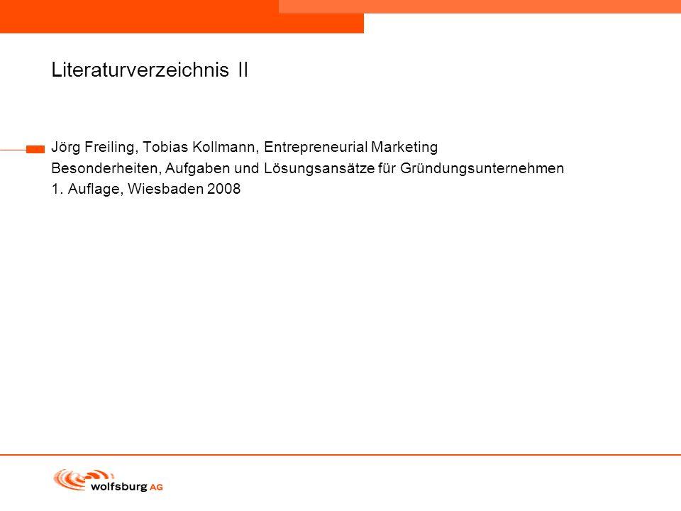 Navigationsleiste Aktueller Eintrag wird rot hervor- gehoben Navigationsleiste weiter Literaturverzeichnis II Jörg Freiling, Tobias Kollmann, Entrepre