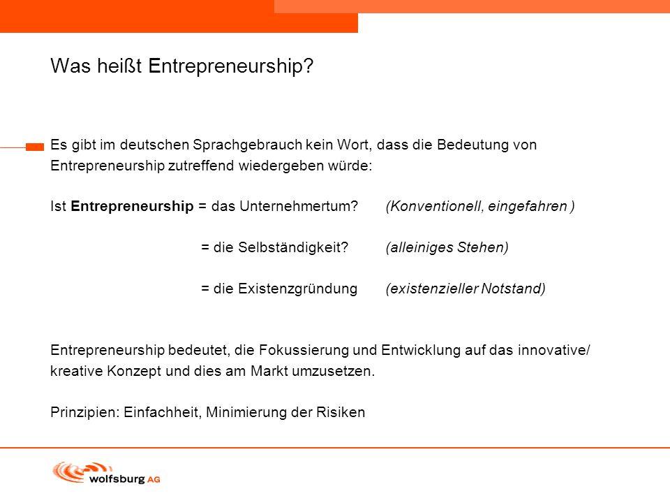 Navigationsleiste Aktueller Eintrag wird rot hervor- gehoben Navigationsleiste weiter Was heißt Entrepreneurship? Es gibt im deutschen Sprachgebrauch