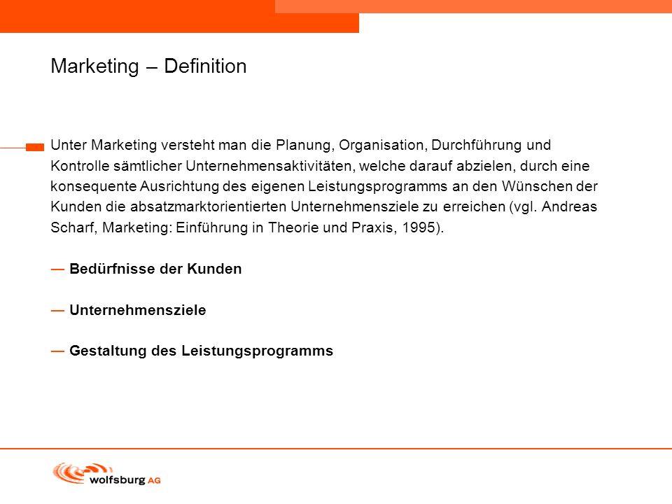 Navigationsleiste Aktueller Eintrag wird rot hervor- gehoben Navigationsleiste weiter Marketing – Definition Unter Marketing versteht man die Planung,