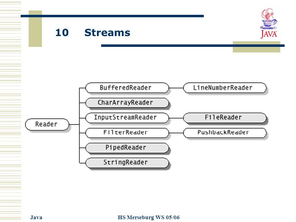 10 Streams JavaHS Merseburg WS 05/06