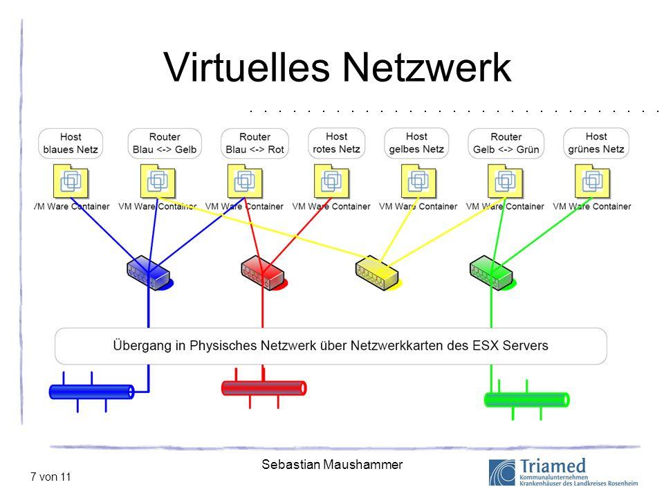 Sebastian Maushammer 8 von 11 Zentrales Management durch Virtual Infrastructure Quelle: vmware.com