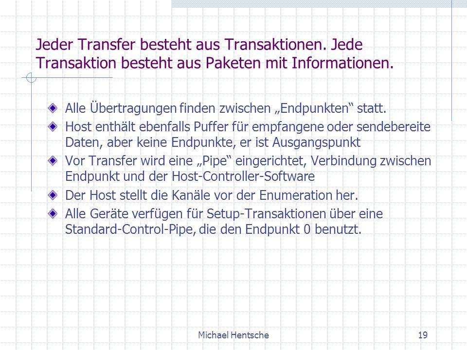 Michael Hentsche19 Jeder Transfer besteht aus Transaktionen.