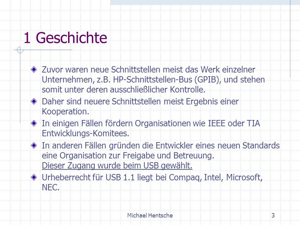Michael Hentsche3 1 Geschichte Zuvor waren neue Schnittstellen meist das Werk einzelner Unternehmen, z.B.
