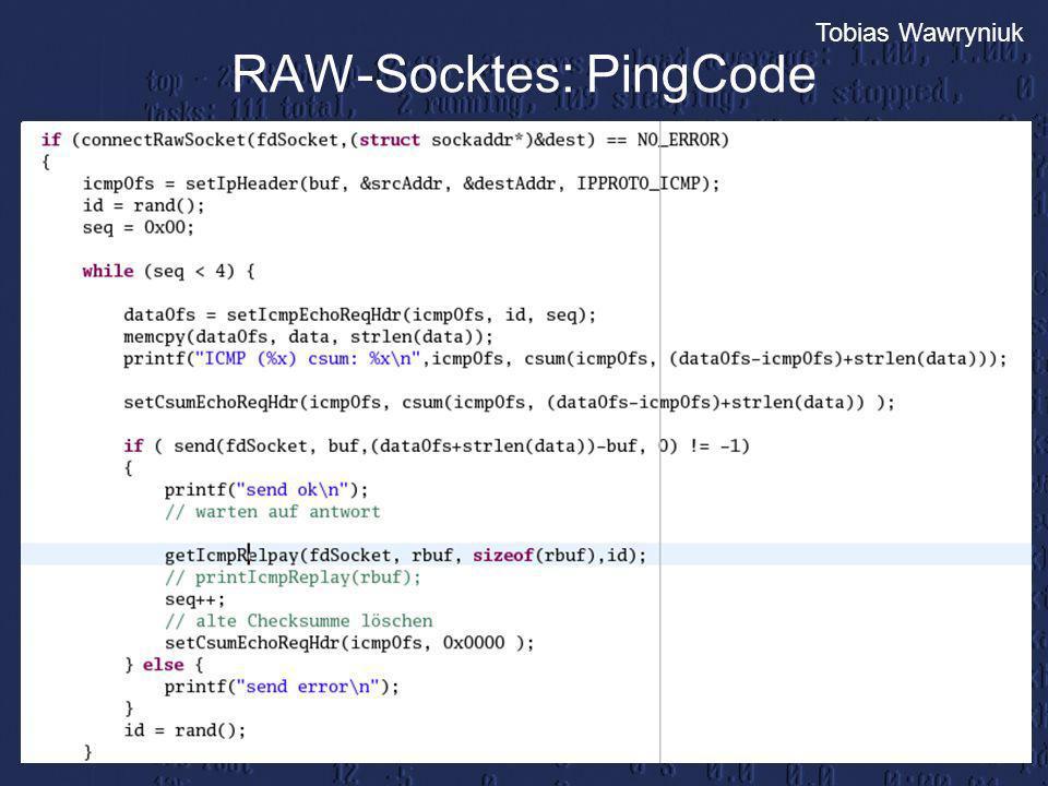 Tobias Wawryniuk RAW-Socktes: PingCode