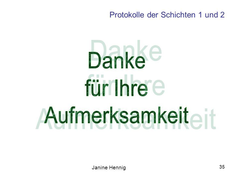 Janine Hennig 35 Protokolle der Schichten 1 und 2