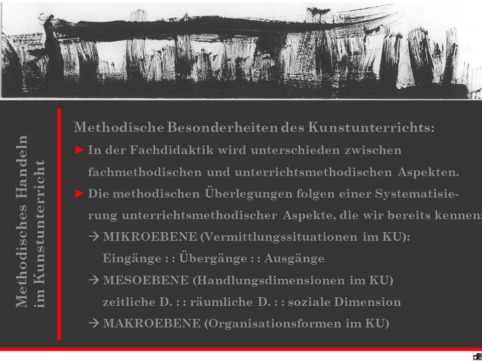 Methodisches Handeln : MIKROEBENE: Inszenierungstechniken von allen, einfache Gesten und Signale, alle Einzelhandlungen.