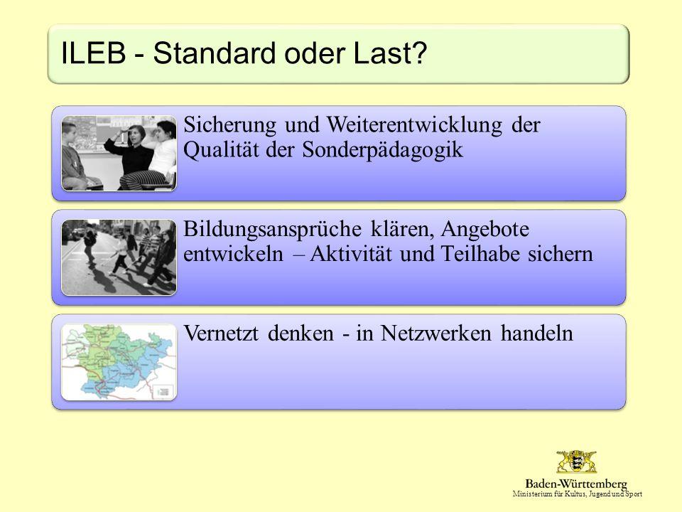 Ministerium für Kultus, Jugend und Sport ILEB - Standard oder Last.