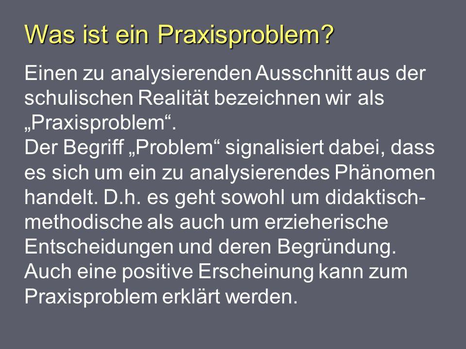Wie wird ein Praxisproblem formuliert.Wie wird ein Praxisproblem formuliert.