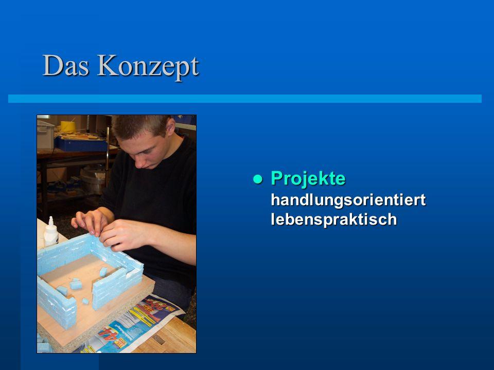 Das Konzept Projekte handlungsorientiert lebenspraktisch Projekte handlungsorientiert lebenspraktisch