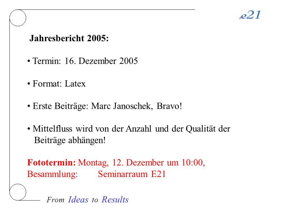 From Ideas to Results Neutronenquellen: - FRM-II, Proposalrunde: 16.