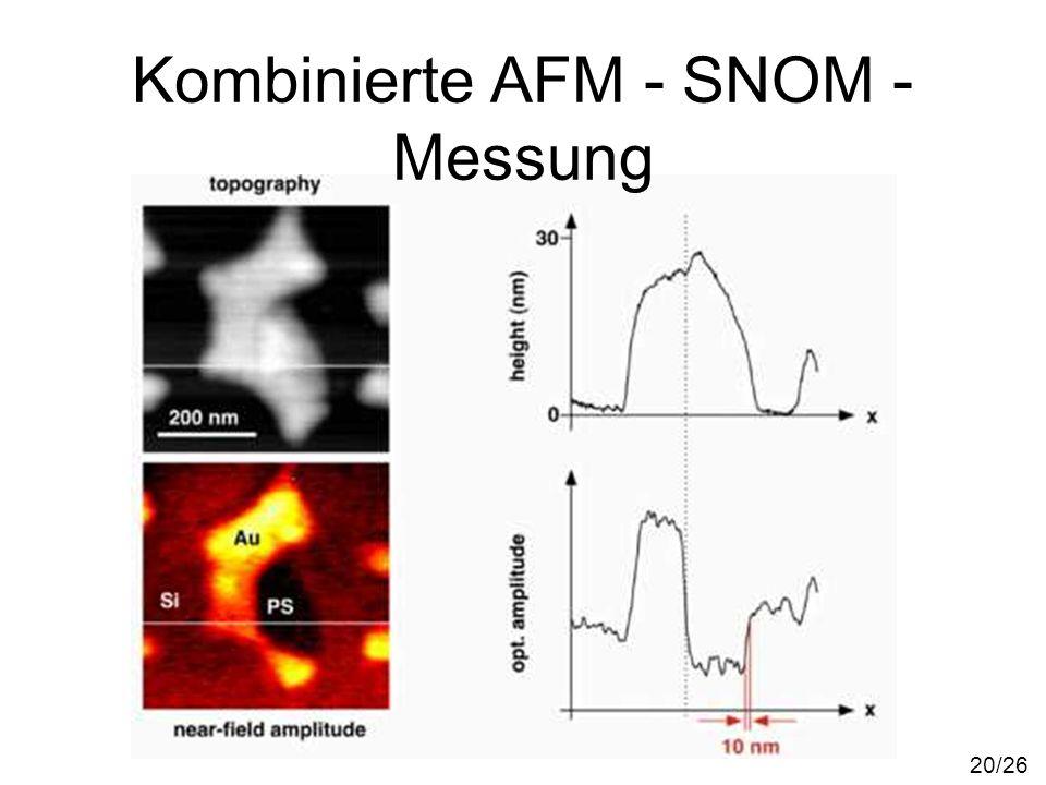 Kombinierte AFM - SNOM - Messung 20/26