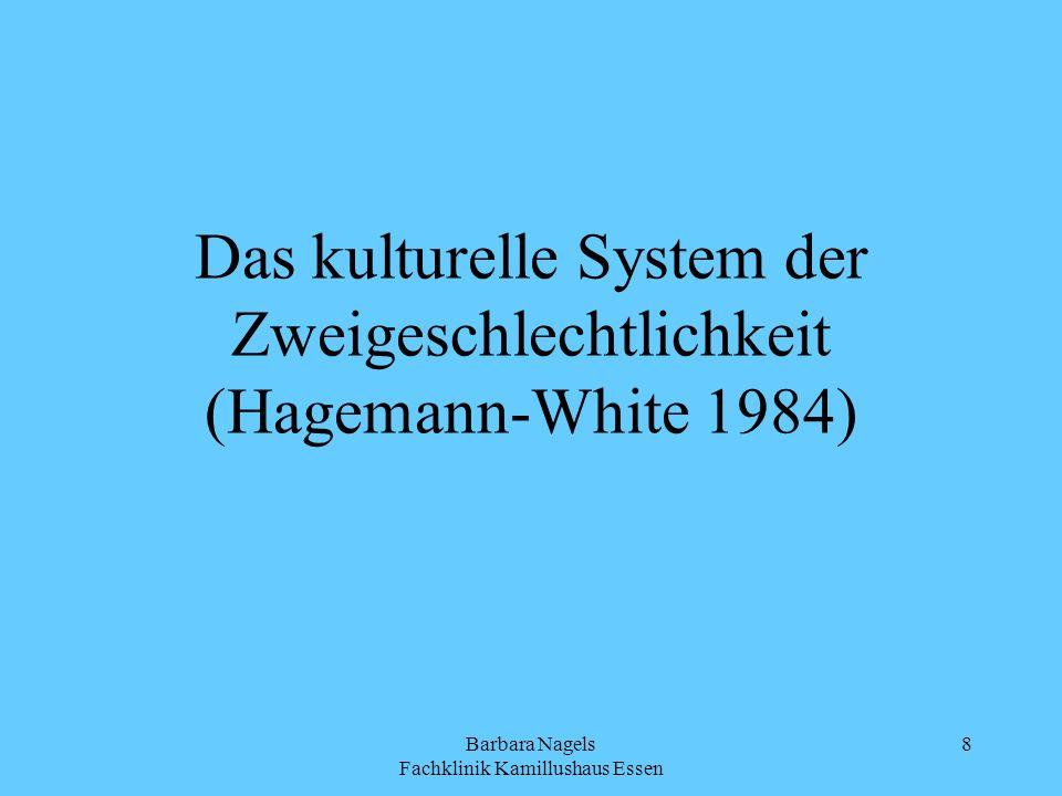 Barbara Nagels Fachklinik Kamillushaus Essen 8 Das kulturelle System der Zweigeschlechtlichkeit (Hagemann-White 1984)