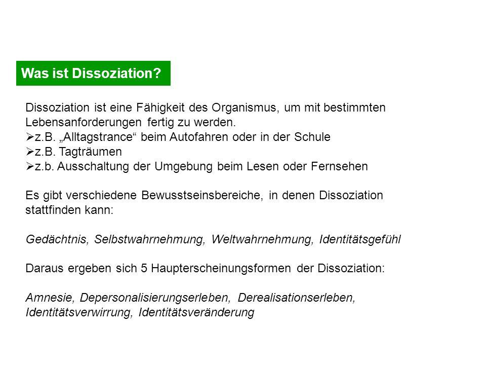 Was ist Dissoziation.