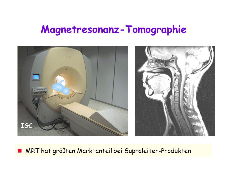 IGC Magnetresonanz-Tomographie MRT hat größten Marktanteil bei Supraleiter-Produkten