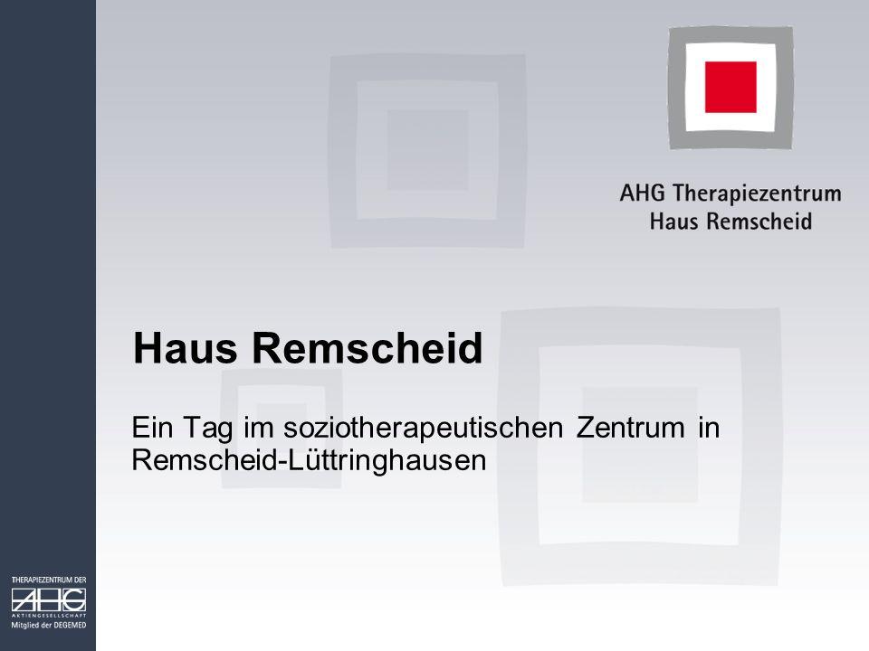 Haus Remscheid Ein Tag im soziotherapeutischen Zentrum in Remscheid-Lüttringhausen