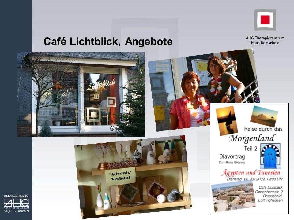 Café Lichtblick, Angebote
