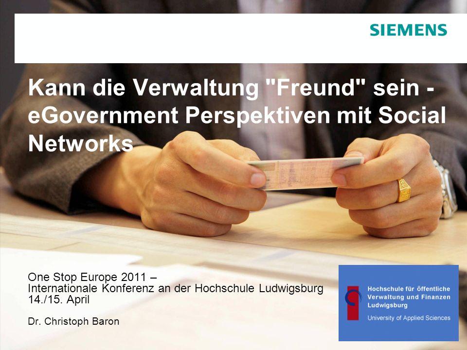 Vertraulich / © Siemens AG 2010. Alle Rechte vorbehalten. Kann die Verwaltung