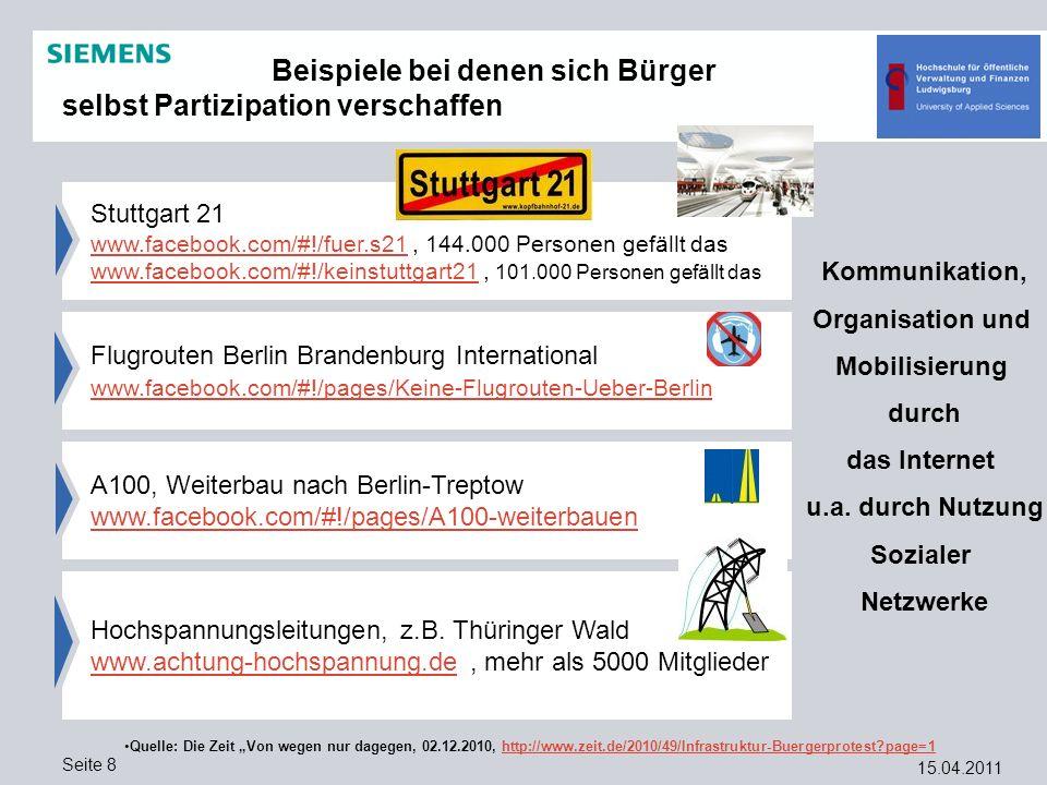 15.04.2011 Seite 8 Hochspannungsleitungen, z.B. Thüringer Wald www.achtung-hochspannung.dewww.achtung-hochspannung.de, mehr als 5000 Mitglieder Stuttg