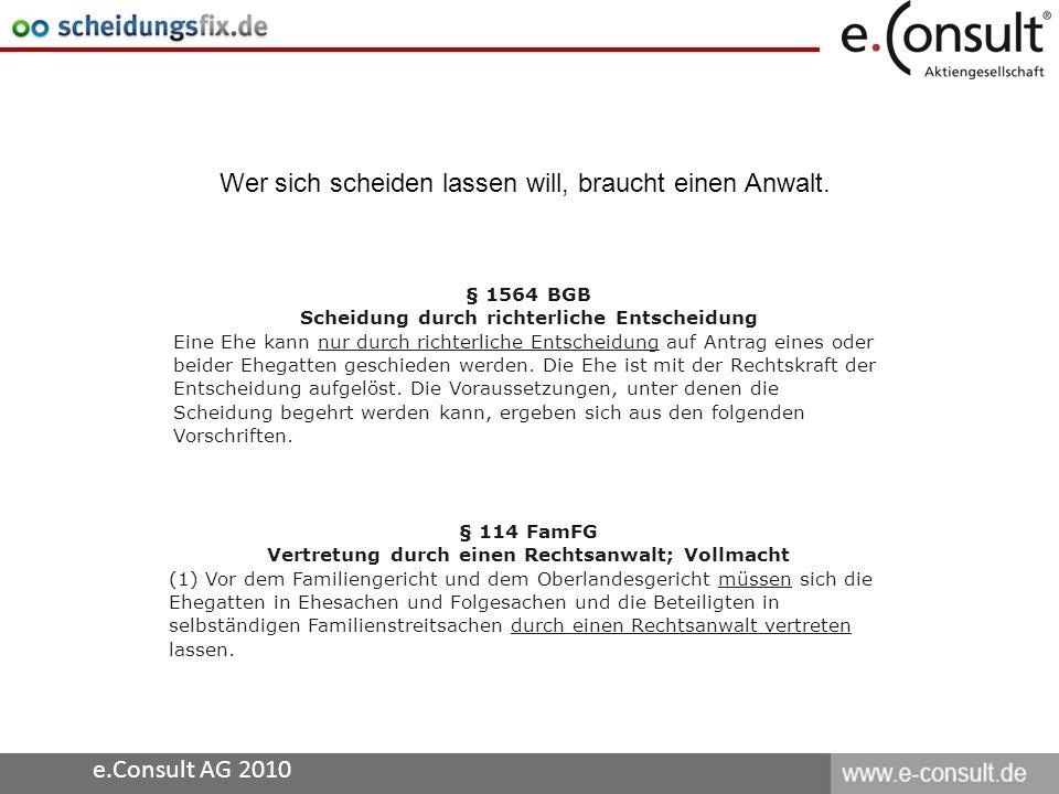 e.Consult AG 2010 Immer mehr Menschen informieren sich vor dem Gang zum Anwalt im Internet......