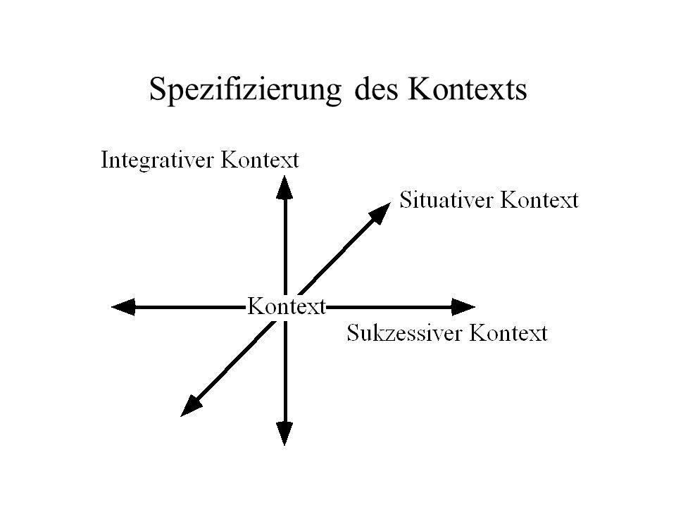 Spezifizierung des Kontexts