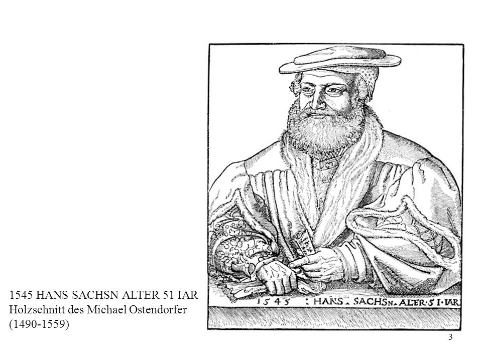 3 1545 HANS SACHSN ALTER 51 IAR Holzschnitt des Michael Ostendorfer (1490-1559)
