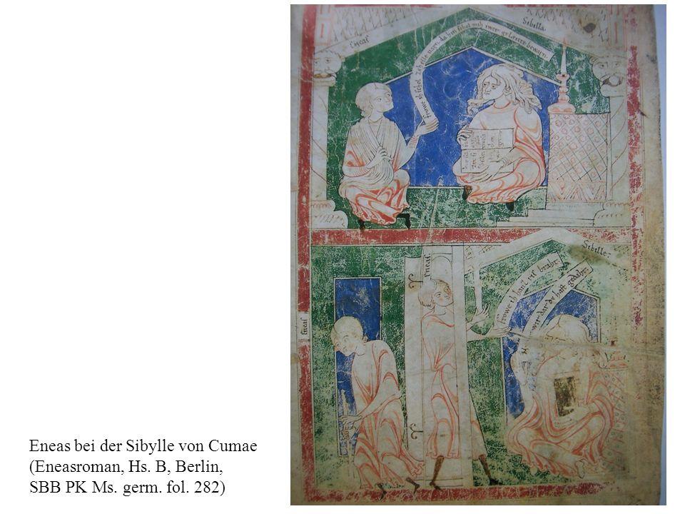 Eneas bei der Sibylle von Cumae (Eneasroman, Hs. B, Berlin, SBB PK Ms. germ. fol. 282)