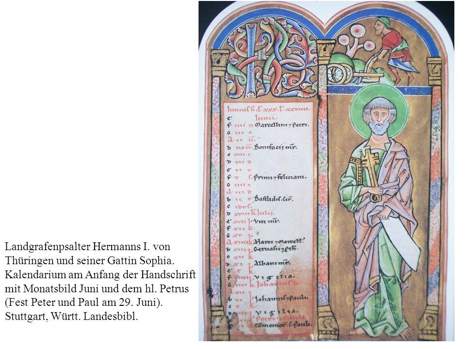 Landgrafenpsalter Hermanns I.von Thüringen und seiner Gattin Sophia.